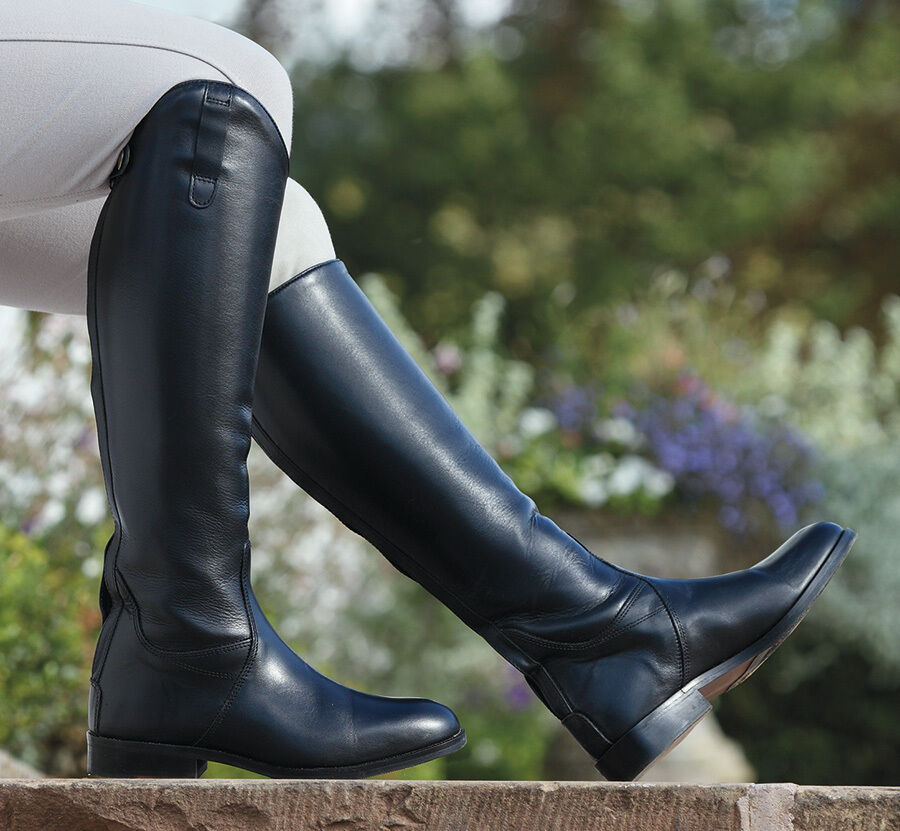 Shires Norfolk  Long Leather ZIP Riding Boots 7 Calf Widths ALL SIZES  60% off
