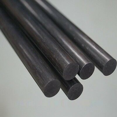 Carbon Fiber Round Bar Rod (in different diameters and lengths)