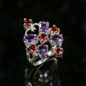 Amethyst Ring 925 Sterling Silver Size 8 /RT20-0136