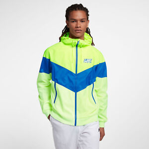 f9dad5d507 Nike Sportswear Windrunner Men s Jacket L Volt Blue Yellow Gym ...