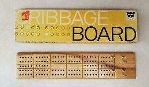 Vintage-Whitman-Cribbage-Board-Complete-in-Box-No-4879