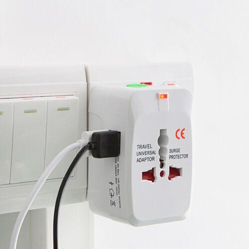 Universal Travel AC Power Charger Adapter Plug Converter 2 USB Port AU UK US EU