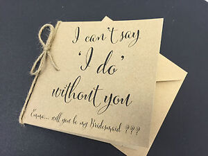 Personalised Vintagerusticshabby Chic Will You Be My Bridesmaid