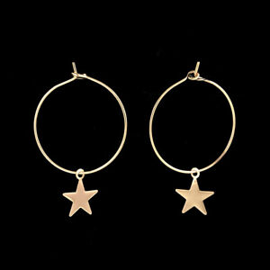 Star-Charms-Circles-Small-Loops-Huggie-Hoops-Earrings-For-Women-Jewelry-Kids