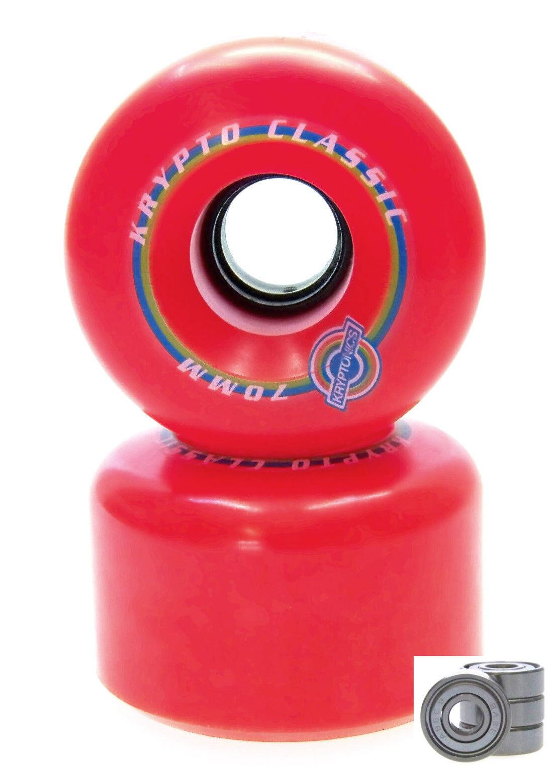Longboard Rolle Kryptonics Classic 70mm / 78A Set ABEC Lager Set 78A Ersatzrolle ROT 44ef7e