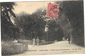 26-cpa-MONTELIMAR-Jardin-Publicos-Entrada-camino-de-Rochemaure