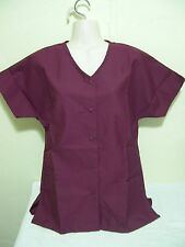 PERSONALIZED SCRUB SNAP TOP WINE BURGANDY COTTON SZ 5X Embroidered Up to 4 words