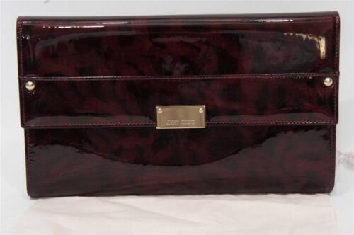 Jimmy Choo 'reese' Extra Large Cheetah Print Clutch Wallet Bag Purple $795 Nwt by Jimmy Choo