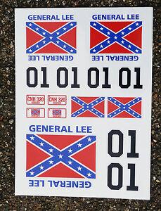 Frugal Rc General Lee Autocollants 1/18 Losi Mini Rayons X Hpi Un BoîTier En Plastique Est Compartimenté Pour Un Stockage En Toute SéCurité