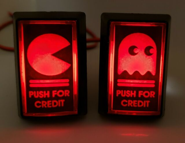 2 Arcade LED Coin Buttons with Custom USB Power Cord and Button Switch Wires!