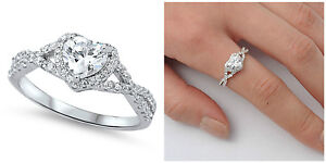 Sterling-Silver-925-HEART-LOVE-KNOT-CLEAR-CZ-DESIGN-PROMISE-RING-8MM-SIZES-4-12