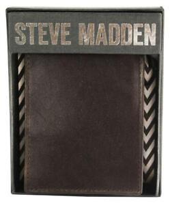 NEW-STEVE-MADDEN-MEN-039-S-PREMIUM-LEATHER-CREDIT-CARD-WALLET-BROWN-N80005-01