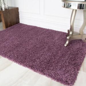 Détails sur Nouveau mauve rose rose violet filles shaggy tapis pour salon  chambre à coucher large petit- afficher le titre d\'origine