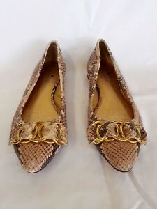 22191a1c39b0 Image is loading Kate-Spade-Eryn-Snake-Print-Leather-Flats