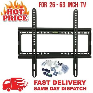 TV-WALL-BRACKET-MOUNT-SLIM-FOR-26-30-32-40-42-50-63-INCH-INCLUDE-SPIRIT-LEVEL