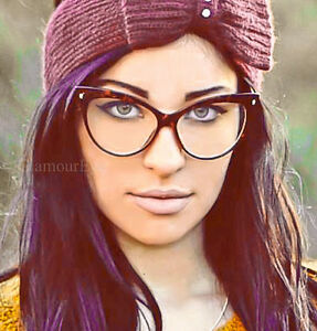 76c909fb36 Image is loading Oversized-Large-Cat-Eye-Tortoise-PinUp-Fashion-Eyeglasses-