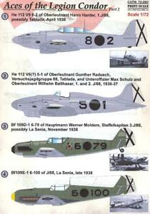 Print-Scale-Decals-1-72-ACES-OF-THE-LEGION-CONDOR-Part-2-Bf-109-amp-He-112