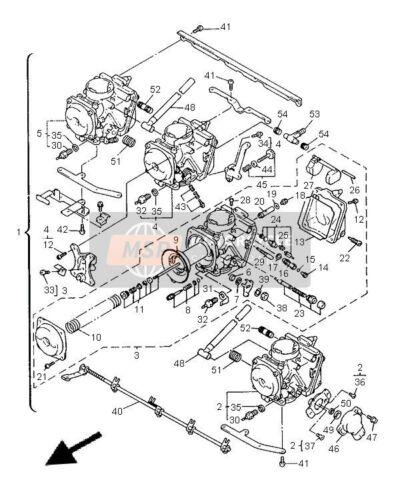 YAMAHA DIVERSION XJ 600 N XJ600 CARB CARBURETTOR LEFT SIDE FLOAT BOWL 1996-2002