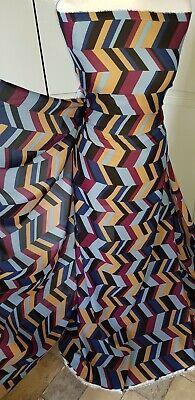 "1M african crepe georgette retro print multi coloured  dress fabric 58/"""