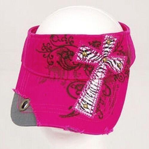 Womens Decorative Inspirational Zebra Print Cross Rhinestone Cotton Color Choice
