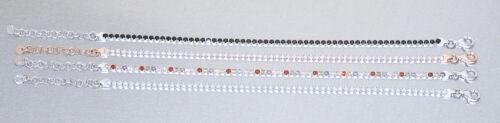 Feines Tennisarmband Silber 925 weisse Zirkonias Armband Armkette Karabiner