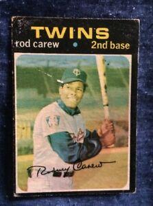 Vintage-1971-Topps-Rod-Carew-Baseball-Card-210-Minnesota-Twins-Low-Grade