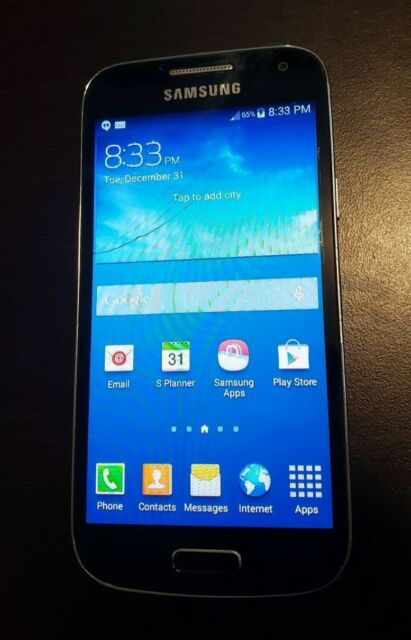 Samsung Galaxy S4 mini - 16GB - Black Mist (Rogers Wireless) - screen cracked