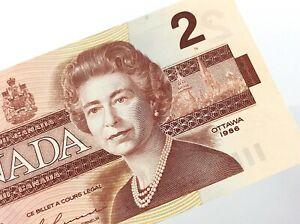 1986-Canada-2-Dollars-EGS-Uncirculated-Canadian-Bonin-Thiessen-Banknote-P714