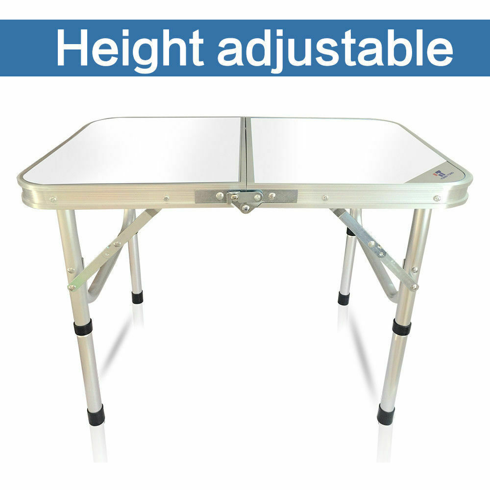 White Aluminum Portable Folding Table For Indoor  Outdoor Picnic BBQ Camping Desk  enjoying your shopping