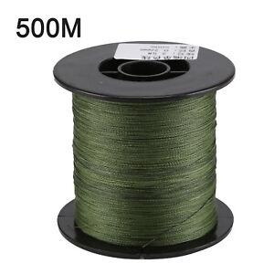 500-M-30-LB-0-26mm-Camo-LENZA-DA-PESCA-forza-PE-Intrecciato-Verde-Grossolana-4-fili