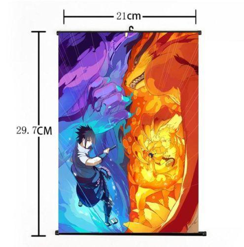 """Hot Japan Anime Naruto Sasuke Home Decor Poster Wall Scroll 8/""""x12/"""" 01"""