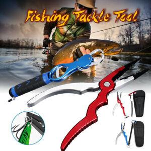 Aluminum-Sea-Saltwater-Fishing-Pliers-Gripper-Cutter-Split-Ring-Scissors-Braid