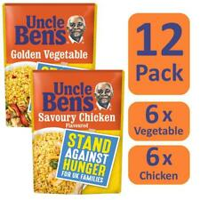 12x 250g Uncle Ben's Microwave Rice Mixed Pack 6x Golden Veg 6x Savoury Chicken