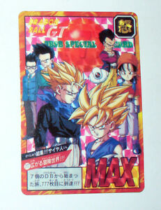 carte dragon ball z rare Rare Card Dragon Ball Z Gt Version Japanese Bandai 1996 No. 777