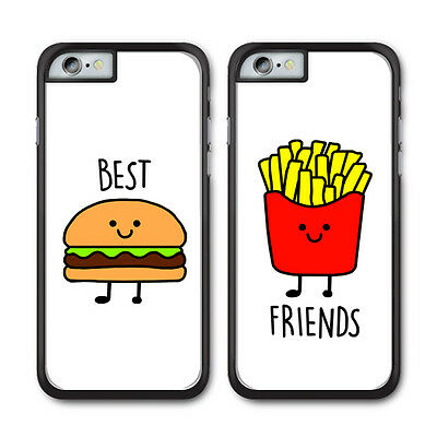 Burger and Fries Best Friend BFF Phone Case For Apple iPhone and Samsung Galaxy