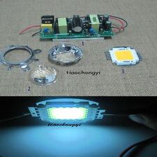100w High Power Led Cool White 20000k Driver 44mm Lens Reflector Bracket