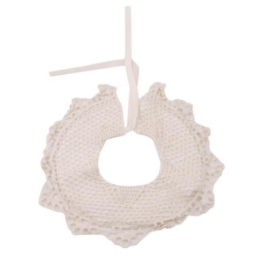 Cotton Lace Flower Shape 360° Baby Saliva Towel Soft Feeding Scarves Bib T