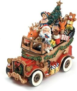 Fitz-and-Floyd-Santa-039-s-Classic-Musical-Holiday-Christmas-Car-Figurine