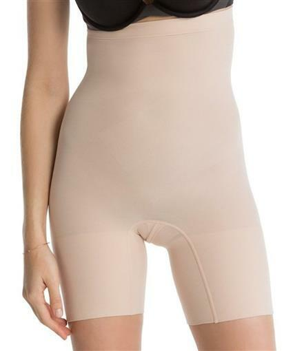 Star Power by Spanx Women/'s Firm Control On Air High-Waisted Girl Short Black S