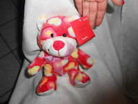 Publix Super Market 8 Valentine Heart Pnk Colorful Teddy Bear Plush