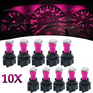Instrument-Panel-LED-Light-Bulbs-PC74-T5-Twist-Lock-Sockets-Pink-KIT-For-Ford