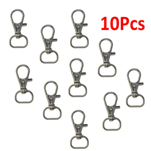 10pcs//set Lobster Clasps Keychain Swivel Trigger Clips Snap Hook Lanyard/&Keyring