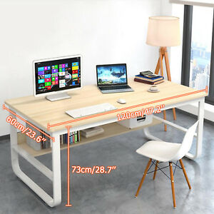 Remarkable Details About Wood Metal Computer Desk Pc Laptop Study Table Workstation Home Office Table Beutiful Home Inspiration Truamahrainfo