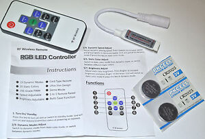 12V (5-24V) RGB LED RF Fernbedienung 72W max. inc. 2 Litium Batterien - <span itemprop=availableAtOrFrom>Beltheim, Deutschland</span> - 12V (5-24V) RGB LED RF Fernbedienung 72W max. inc. 2 Litium Batterien - Beltheim, Deutschland