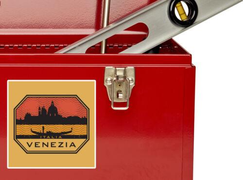 2 x Venezia Vinyl Stickers Travel Luggage #10576