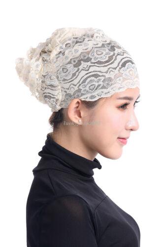 Muslim Islamic Women Lace Under Scarf Hijab Bonnet Cap Headwear Wrap Inner Hats