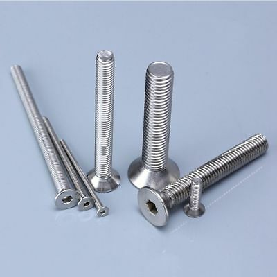 M5 x 30 Stainless Countersunk Bolts 5mm x 30mm Flat A4//316 Marine Stainless x20
