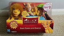 DISNEY Lion King Baby Simba & Family Plush Figure Set - 2002