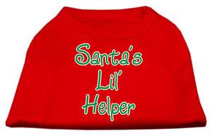 Santa-039-s-Lil-039-Helper-Red-Christmas-Dog-Shirt-Tank-Top-6-Sizes-Small-to-XXXL