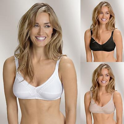 Details about  /Naturana 100/% Cotton Soft Cup Bra 86545 Wire Free Everyday Bra